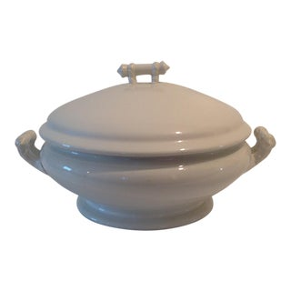 Antique English Ironstone Covered Tureen by Anthony Shaw & Son For Sale