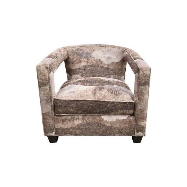 Metal Bernhardt Alana Velvet Lounge Chair For Sale - Image 7 of 7
