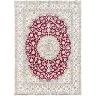 "Pasargad Home Nain Wool Area Rug- 10' X 13' 9"" For Sale"