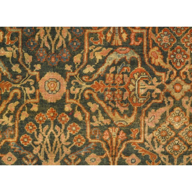 Original Persian Sultanabad on lamb's wool with a cotton foundation, very good for high traffic. With a striking design...