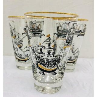 Vintage Nautical Motif Cocktail Glasses Preview