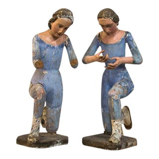 18th C Angels - a Pair For Sale