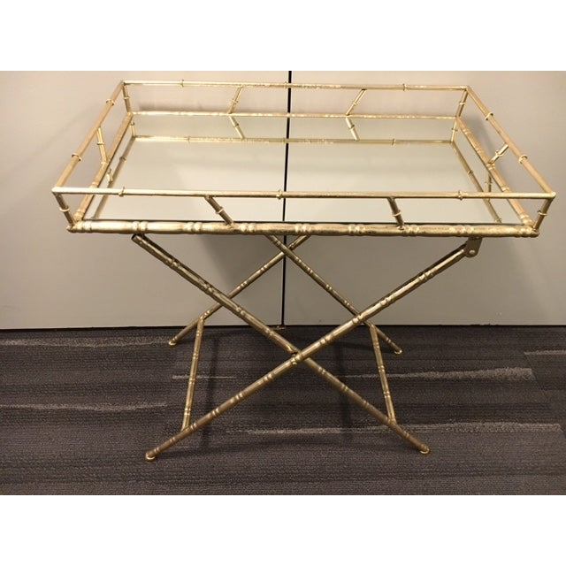 Gold Folding Side Table - Image 3 of 5