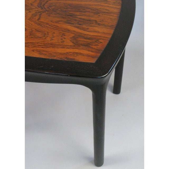 Danish Modern Vintage 1960s Mahogany & Rosewood Table by Edward Wormley for Dunbar For Sale - Image 3 of 6