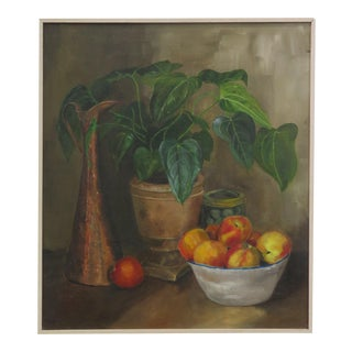 Still Life With Plant Oil Painting