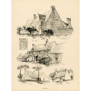 1920s French Architecture Print, Small Houses For Sale