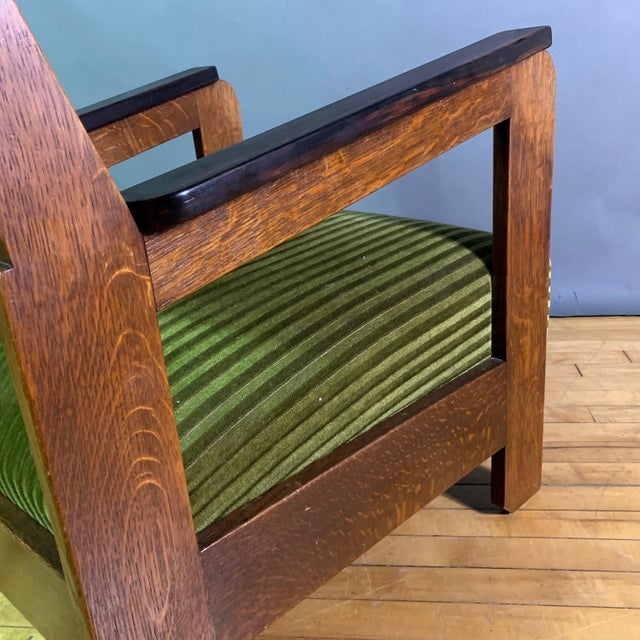 Pair 1940s Wenge Wood Armchairs, Corduroy & Rosewood For Sale - Image 10 of 11