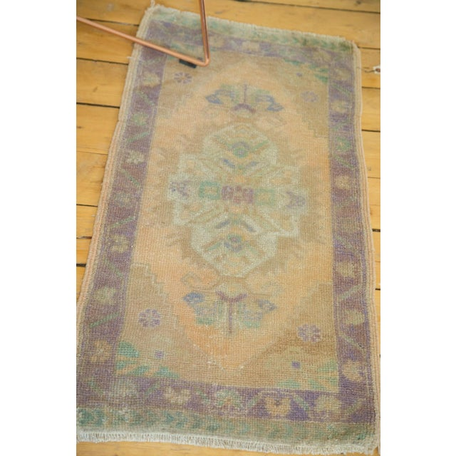 "Islamic Vintage Distressed Oushak Rug - 1'9"" X 3'6"" For Sale - Image 3 of 5"