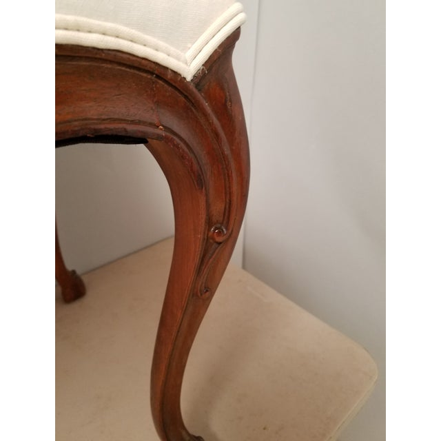 French 1930s French Country Walnut Bench With Hoof Feet For Sale - Image 3 of 8