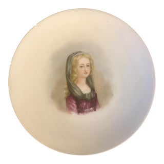 Martial Redon Limoges Portrait of a Girl Cabinet Plate For Sale