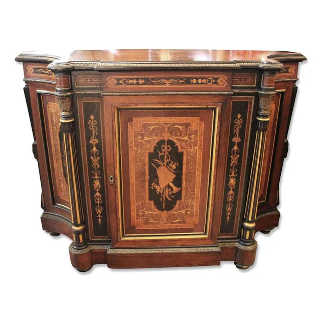 19th Century Renaissance Rosewood Bronze Mounted Credenza For Sale - Image 10 of 10