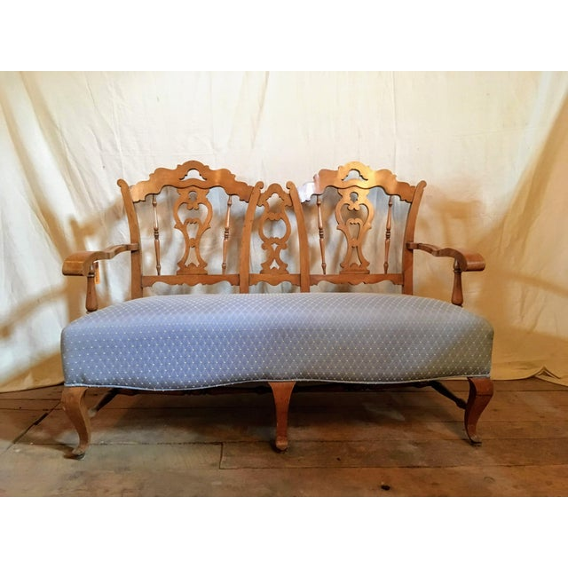 Early 20th Century Vintage French Country Settee For Sale In Boston - Image 6 of 6
