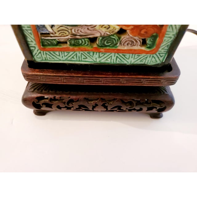 Chinese Figural Asian Table Lamp For Sale - Image 3 of 8