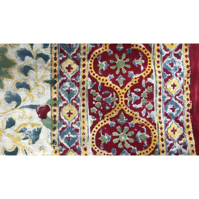 Late 20th Century 20th Century Turkish Hand Block Printer Suzani Bedspread or Tapestry For Sale - Image 5 of 7