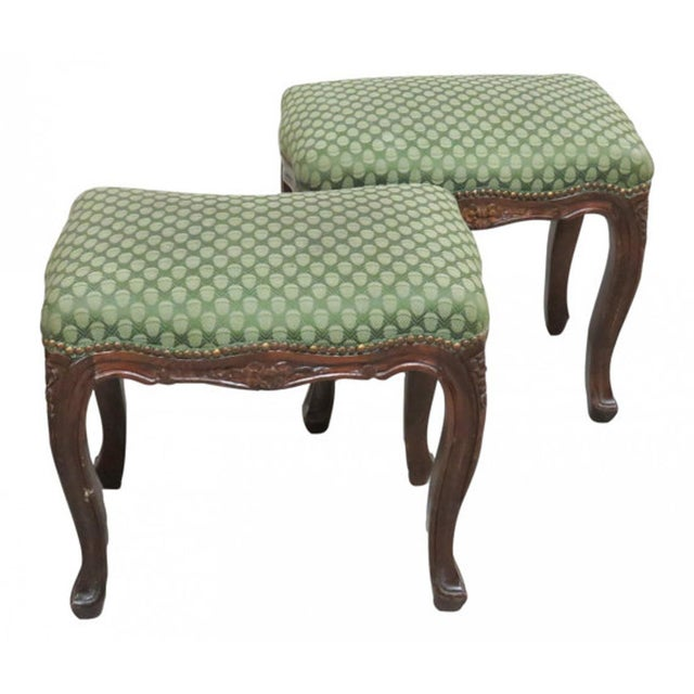 Antique Italian Carved Footstools - a Pair - Image 1 of 5