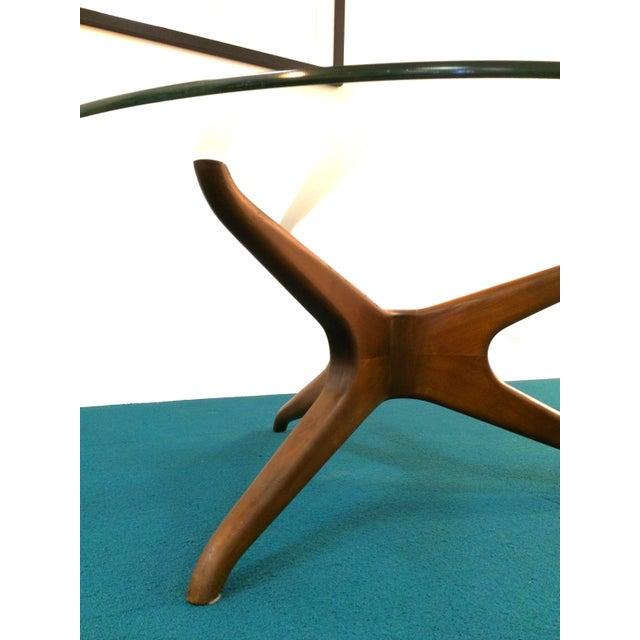 Vladimir Kagan Biomorphic Walnut Coffee Table - Image 7 of 8
