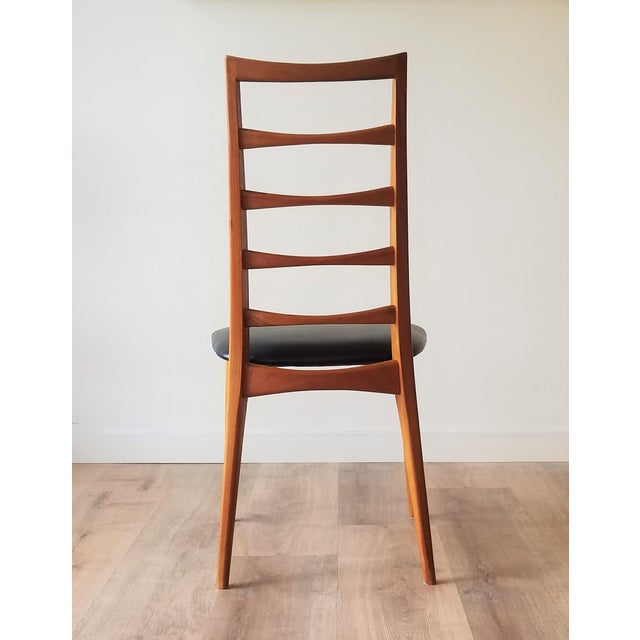 1960s Niels Kofoed for Koefoeds Hornslet Newly Upholstered Teak Ladder Back Dining Chairs - a Pair For Sale In Seattle - Image 6 of 13