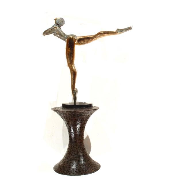 Pasargad NY Bronze Ballerina Statue - Prince Monyo Mihailescu-Nasturel Herescu (Romanian B. 1926) For Sale - Image 5 of 9
