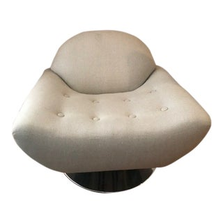 1970's Design Low Swivel Armchair For Sale