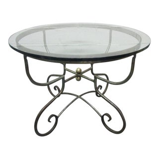 Italian Iron Centre Table Stlye of Alberto Orlandi For Sale