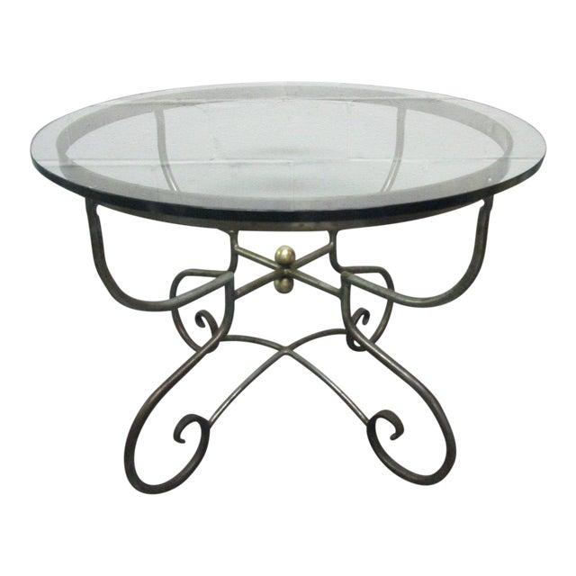 Italian Iron Centre Table Stlye of Alberto Orlandi For Sale