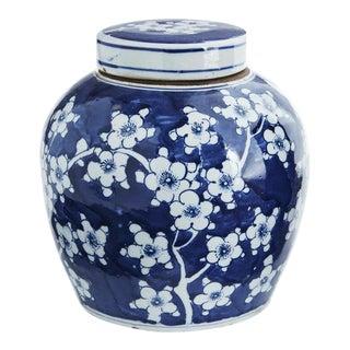 Chinoiserie Plum Flower Ginger Jar For Sale