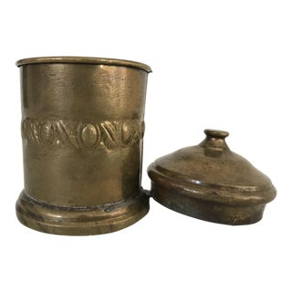 19th Century Turkish Brass Storage Container For Sale