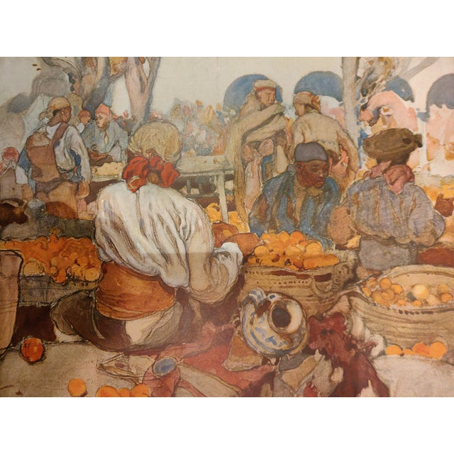 Early 20th Century Antique English Watercolor Print For Sale - Image 4 of 5