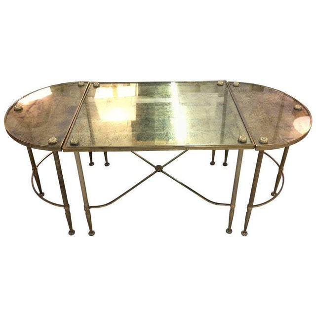 Vintage Oblong Gilded Coffee Table For Sale - Image 9 of 9