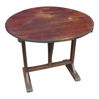 Antique French Country Wine Tasting Table For Sale