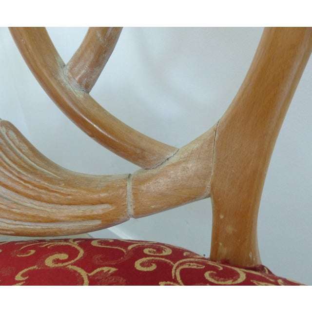 LaVerne Style Carved Wood Settee For Sale - Image 11 of 12