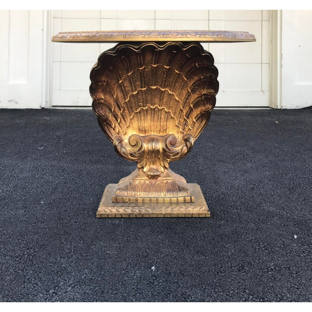 1980s Vintage Grosfeld House Shell Console Table For Sale - Image 5 of 12