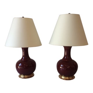 Christopher Spitzmiller Ridged Single Gourd Lamps- a Pair For Sale