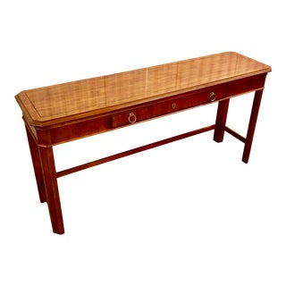 Drexel Georgian Style Fruitwood Console Table For Sale