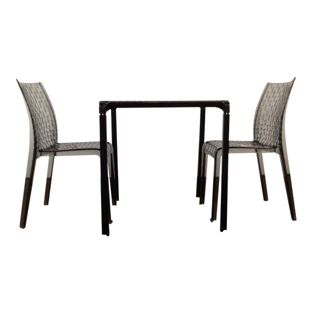 """Kartell """"Ami Ami"""" Table and Pair of Matching Side Chairs by Tokujin Yoshioka - Image 1 of 10"""