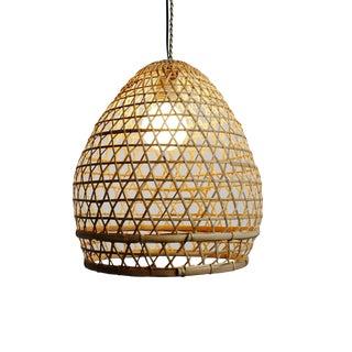 Wicker Fish Basket Lantern Small For Sale