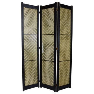 Mid Century Folding Screen by Tropicraft of San Francisco For Sale