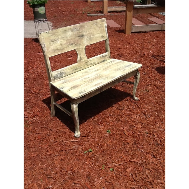 Rustic Distressed Bench - Image 4 of 6