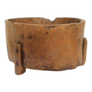 Primitive Burlwood Container For Sale
