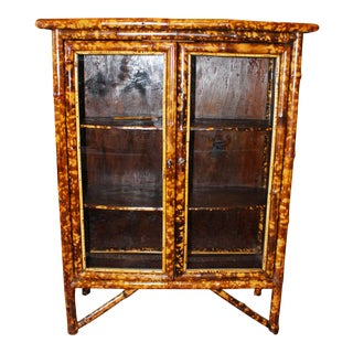 Late 19th Century Antique Bamboo Cabinet For Sale