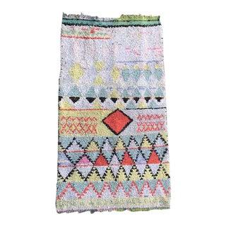"""Vintage Moroccan Berber Boucherouite Rug - 4'9"""" x 8'"""