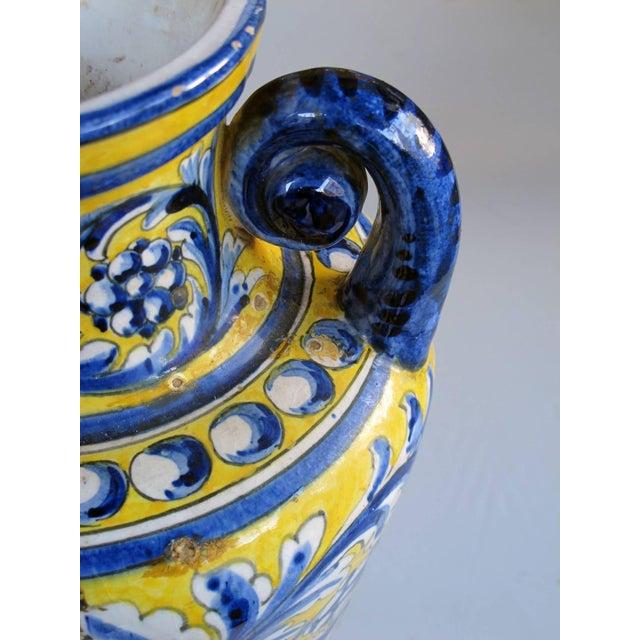 An Italian Tin-Glazed Earthenware Polychrome (majolica) double handled vase - Image 4 of 6