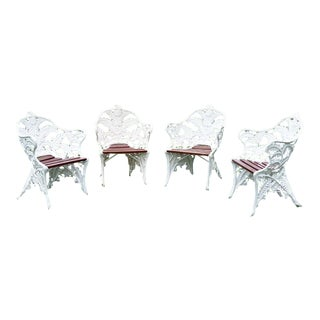 Fern Pattern Garden Chairs For Sale