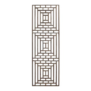Rectangular Plain Wood Geometric Pattern Wall Panel For Sale