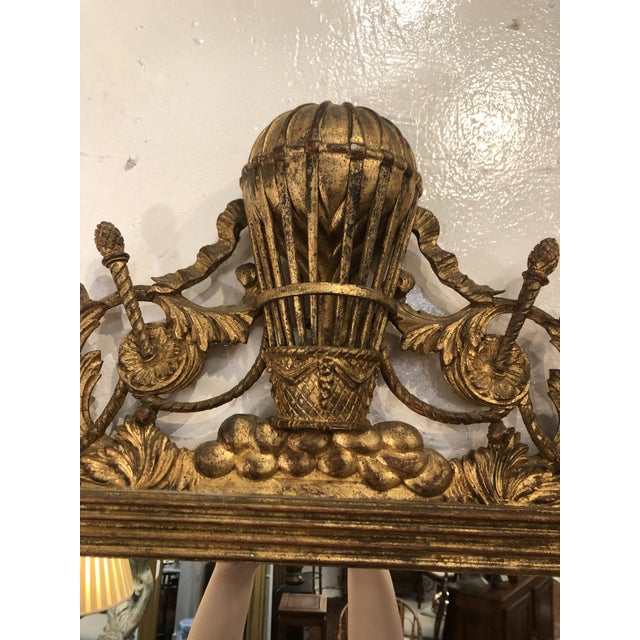 Gilt Mirror With Balloon Basket Frieze For Sale - Image 10 of 13
