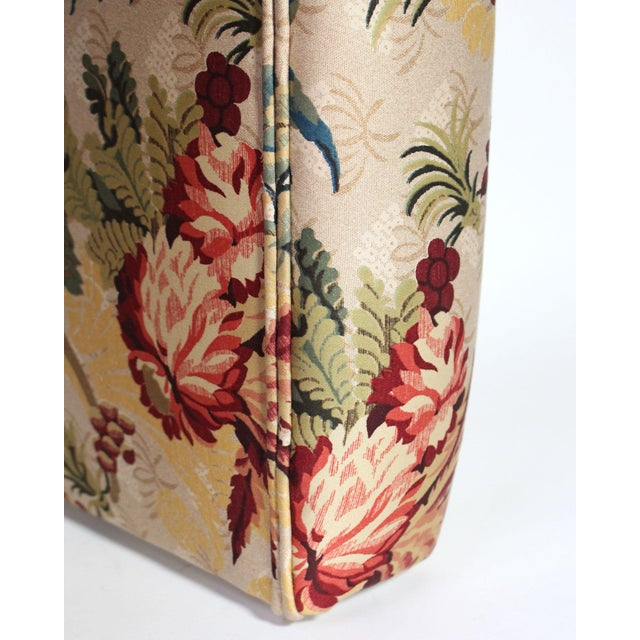 "1990s Scalamandre's ""Duchessa"" Satin Upholstered Waterfall Vanity Stool For Sale - Image 5 of 6"