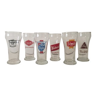 Vintage Pilsner Glasses - Set of 6