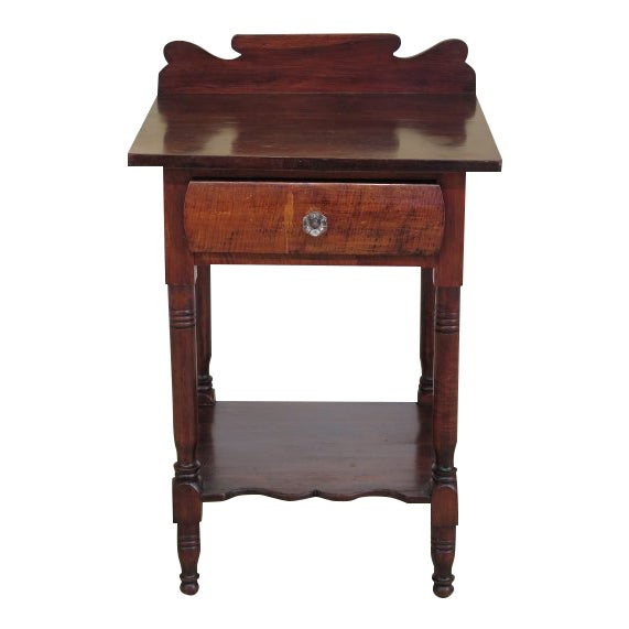 Antique Century Sheraton Style 1 Drawer Work Table Washstand For Sale