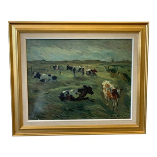 Beautiful Swedish Oil Painting on Canvas For Sale