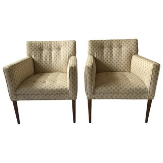 Pair of 1960s Scandinavian Armchairs With Teak Legs For Sale